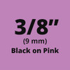 Black on Pink ptouch label