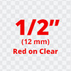 TC-11 red on clear label