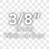 TC14Z1 white on clear label