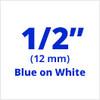 TC-22 blue on white label