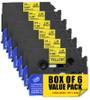 "1"" black on yellow label tape"