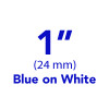 "1"" blue on white tx tape"