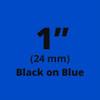"1"" Black on blue TX tape"