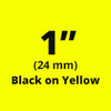 "1"" black on yellow tx tape"