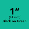"1"" black on green tx"