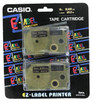 Casio IR-18BKG2S Gold on Black Tape Cassettes