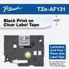 TZE-AF131 black on clear acid free 12mm