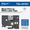 TZE-AF231 acid free label 12mm