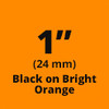 "1"" Black on Orange ptouch labels"