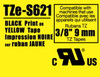 Brother TZe-S621 3/8 In. Black on Yellow Extra Strength Tape