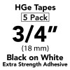 "3/4"" HGe extra strength black on white"