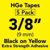 "HGe 3/8"" extra strength Black on Yellow"