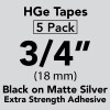 """HGe 3/4"""" extra strength Black on Matte Silver"""