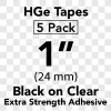 """1"""" HGe extra strength black on clear"""
