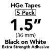 """HGES 1 1/2"""" black on white"""