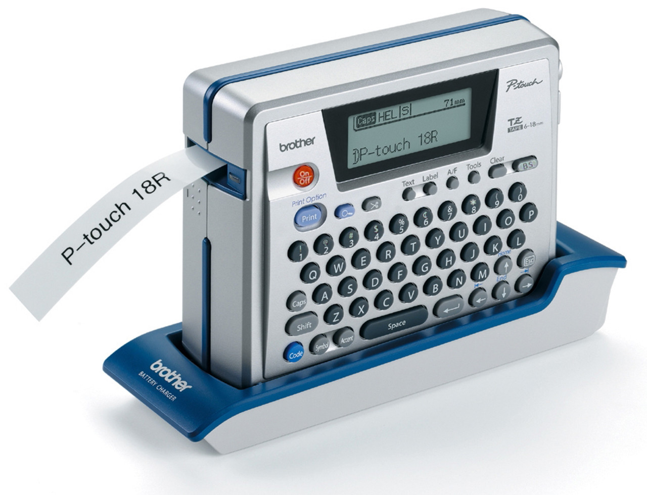 Brother Pt 18r Rechargeable Electronic Label Maker