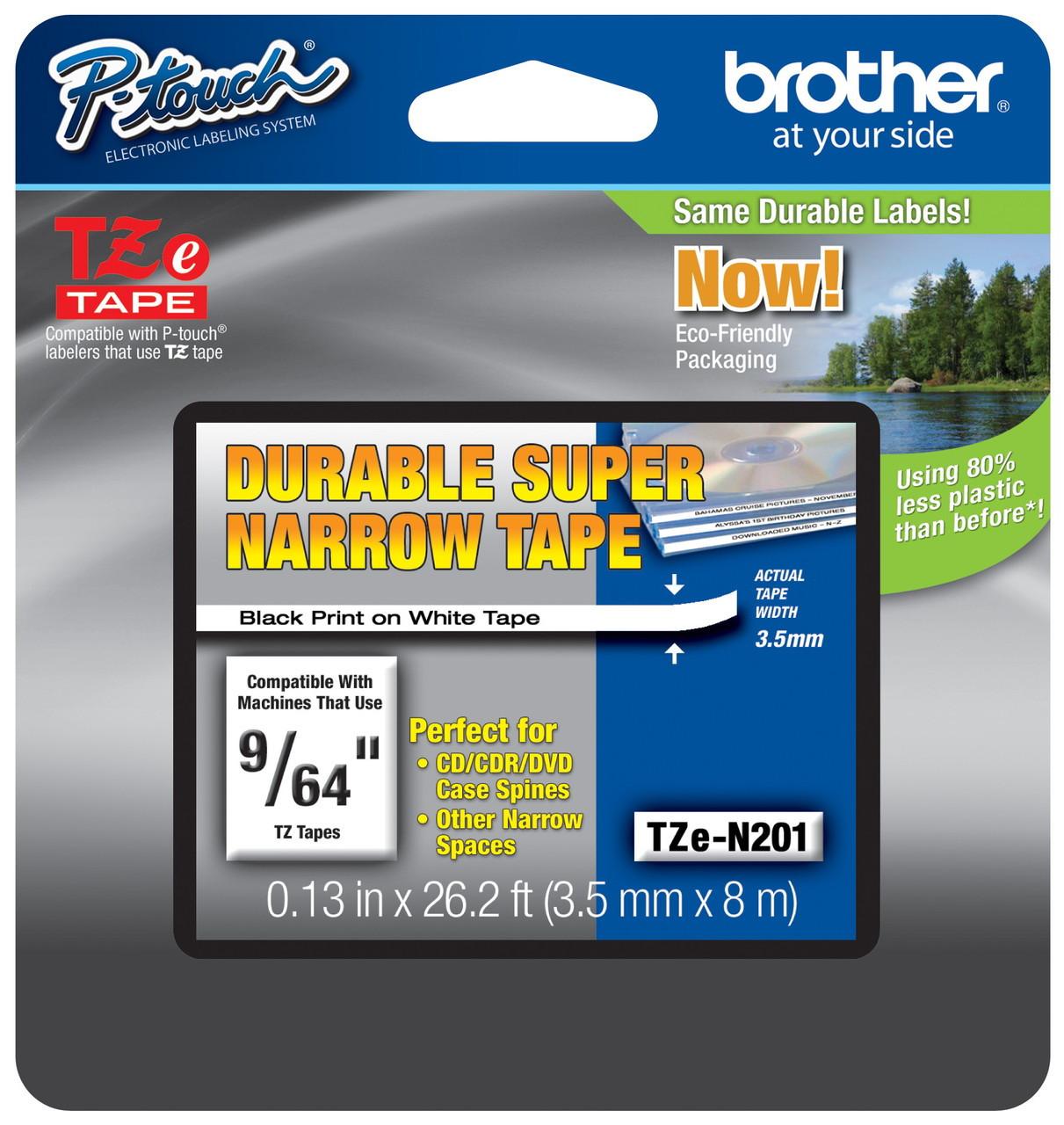 8PK Flexible Black on White Label Tape TZ TZe FX231 For Brother P-Touch PT-2400