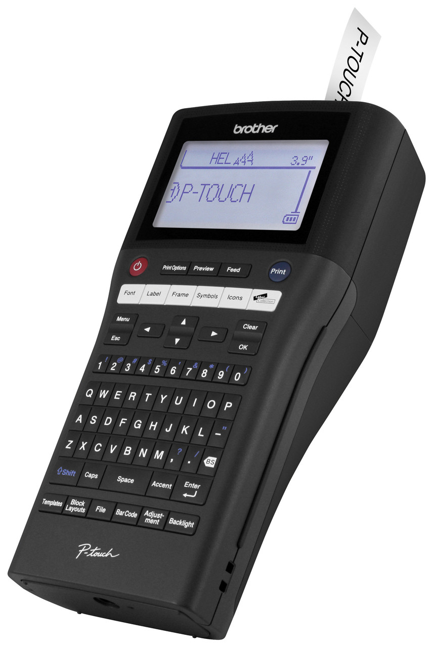 Brother Pt H500li Rechargeable P Touch Label Maker Labeling Tool Qwerty Keyboard 1801611 Makers Electronics Printer Left View