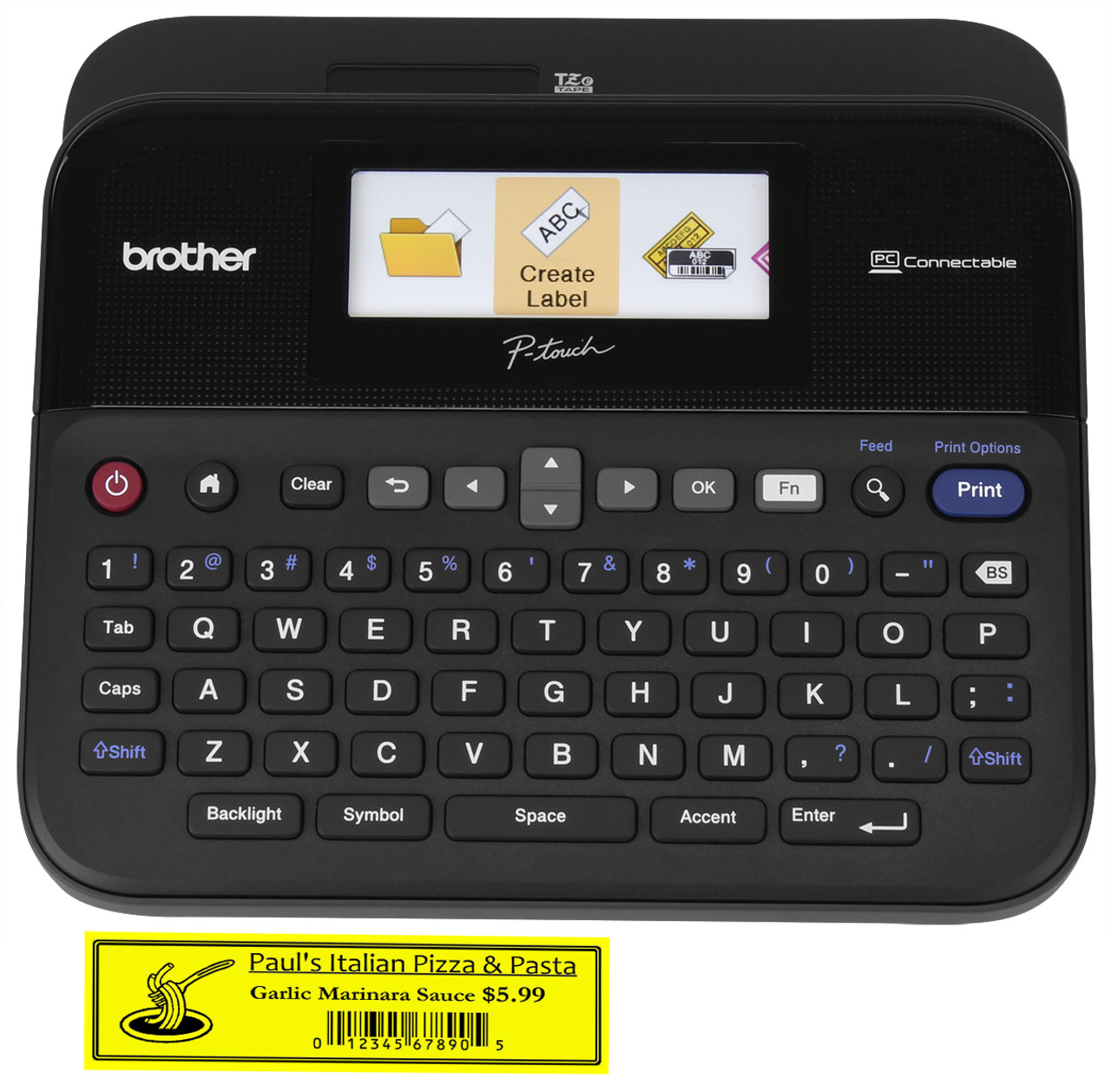 Brother PT-D600 PC-Connectable P-touch Label Maker with Color Display