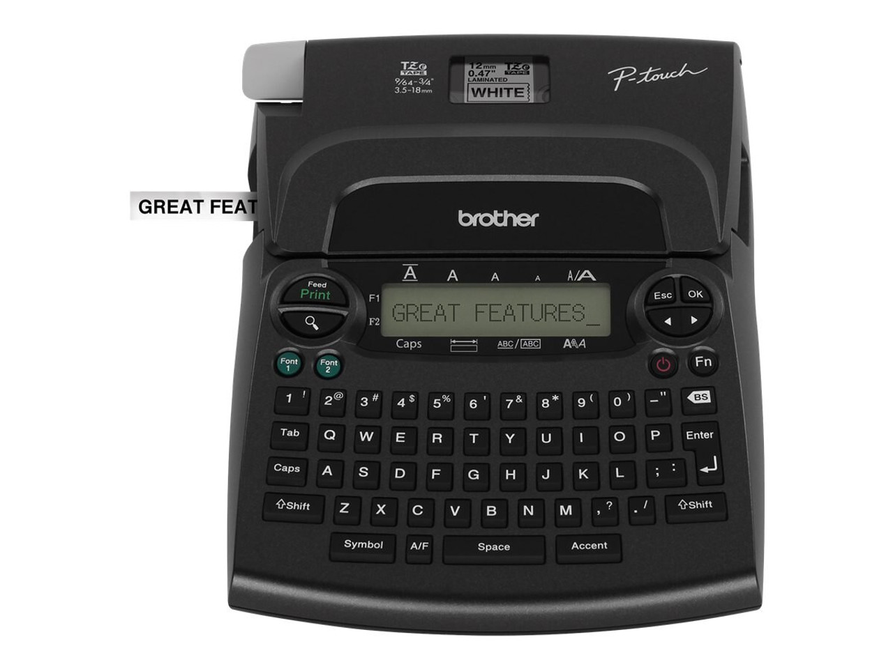 NEW Brother P-touch PT-1890w Labeler /& 2 Tapes Thermal Label Maker Printer