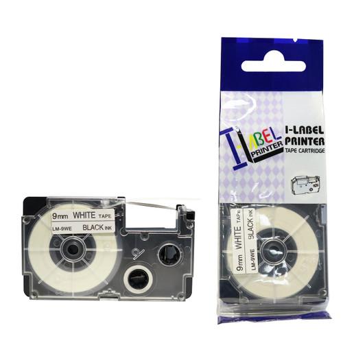 Compatible Label-It tape - black on white