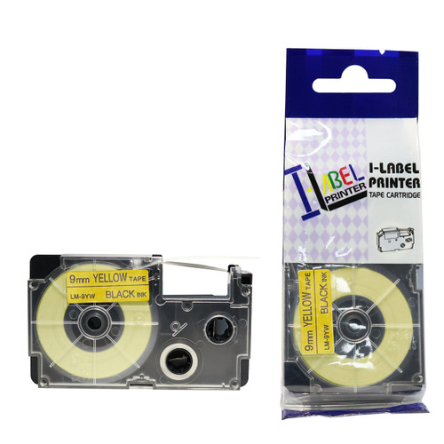 Compatible Label-It tape - black on yellow