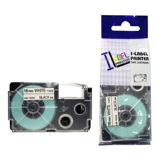 Compatible Label-It tape - 18mm black on white