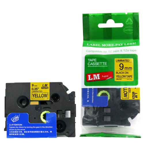 Replacement p-touch black on yellow label tape p-touch tape