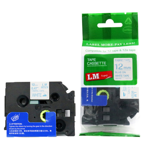 Replacement 12mm blue iron-on p-touch tape