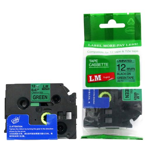 4 PK TZe TZ 531 Black on Blue Label Tape 1//2/'/' For Brother P-touch PT2310 PT2400