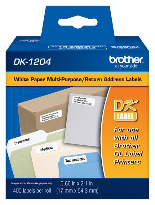 Brother DK1201 Standard Address Labels (400 Count)