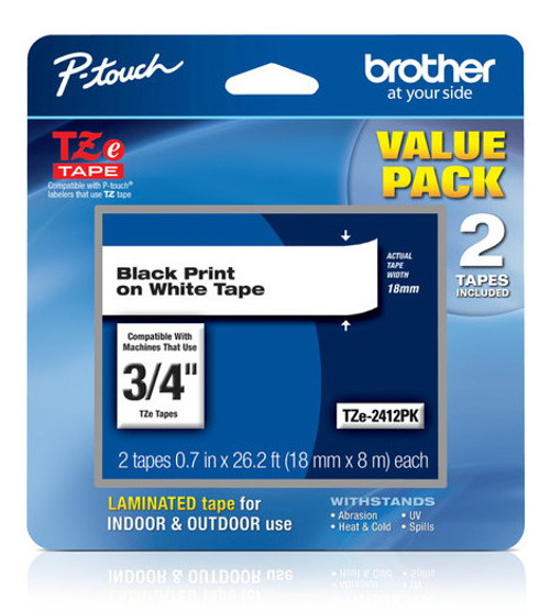 Brother TZ-241-2PK p-touch tape
