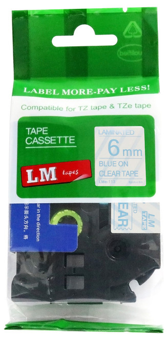 2PK White on Clear Label Tape TZ 115 TZe 115 Compatible for Brother P-Touch  6mm