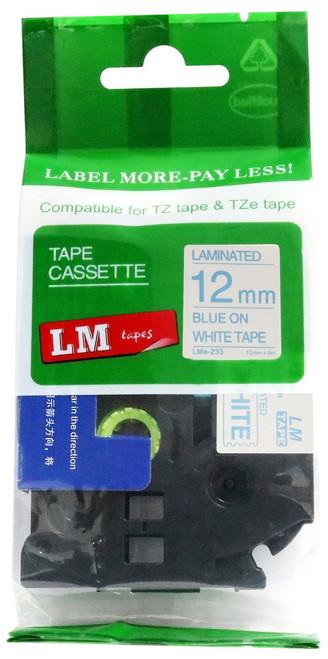 12mm blue on white