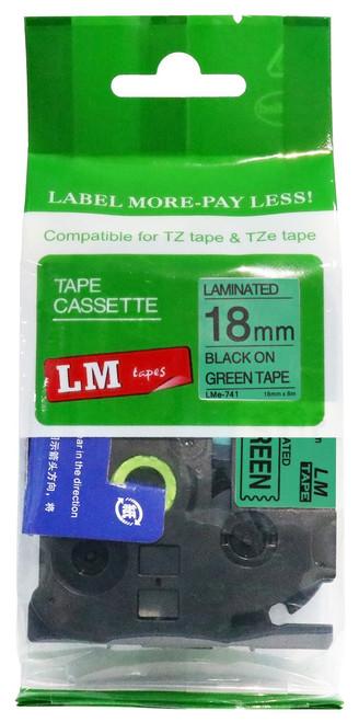 18mm black on green