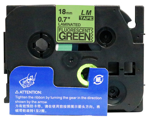 18mm black on fluorescent green