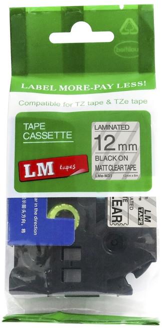 12mm black on matte clear