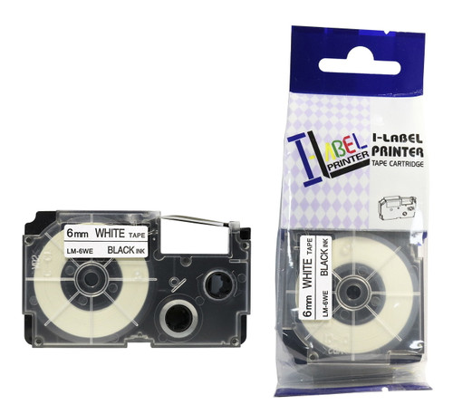 replacement 6mm casio black on white tape