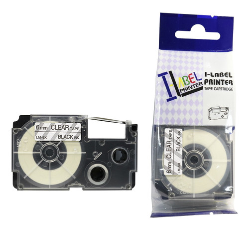 replacement 6mm casio black on clear tape