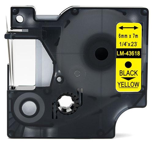 Compatible Dymo 43618 D1 tape 6mm