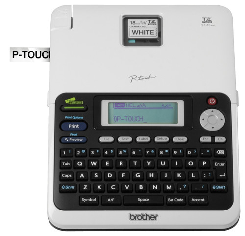 PT-2030AD label printer front view