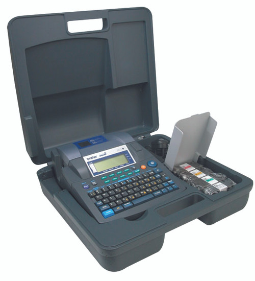 PT9600 printer shown with carrying case