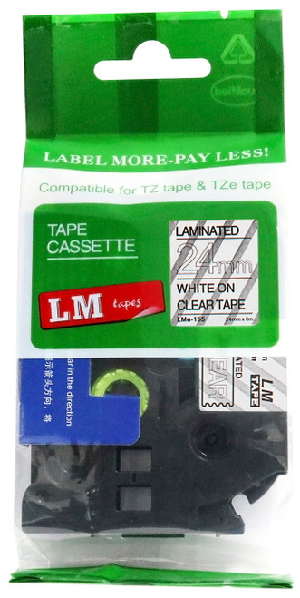 compatible white on clear extra strength tape
