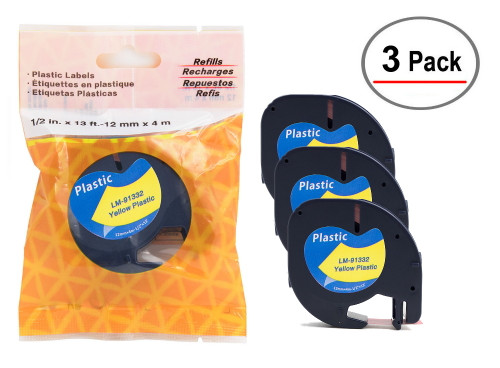 Compatible with Dymo LetraTAG  91332 tapes