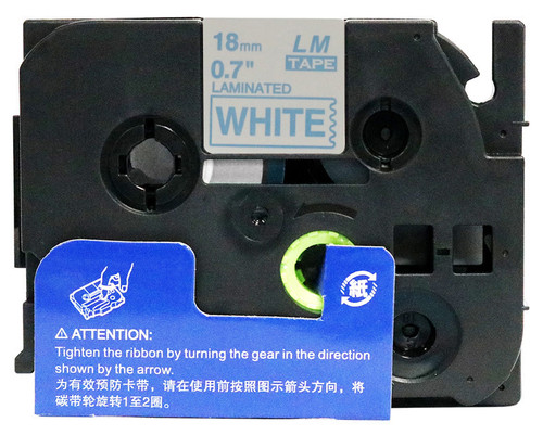 Opened Box - 3/4 blue on white label tape