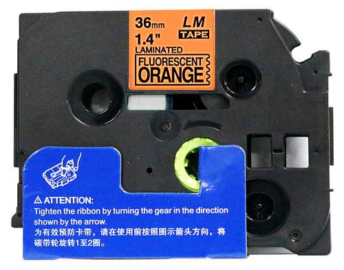 "Open Box 1-1/2"" black on Fluorescent orange label tape tape"