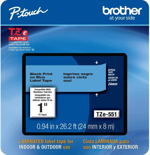 Brother TZe-551 p-touch tape 24mm