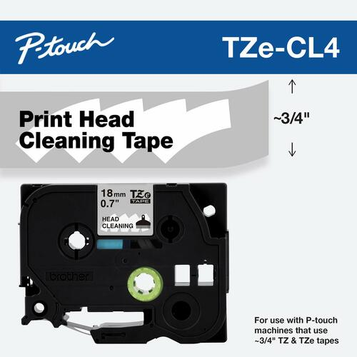 TZE-CL4 cleaning label