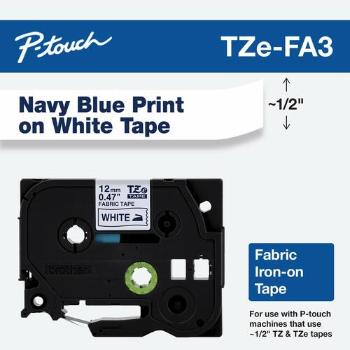 p-touch iron on tape label 12mm