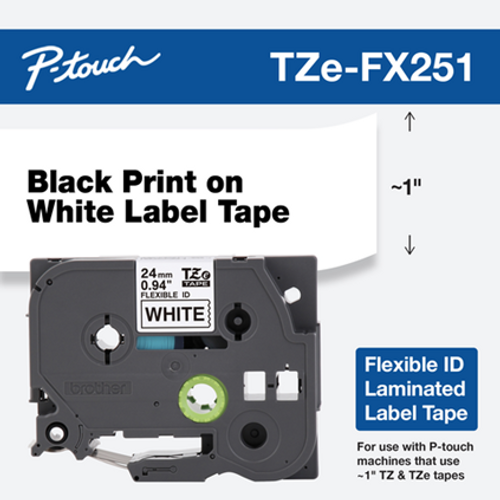 Brother TZE-FX251 ptouch tape
